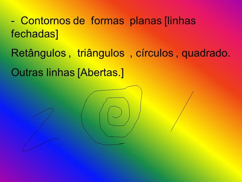 - Contornos de formas planas [linhas fechadas]